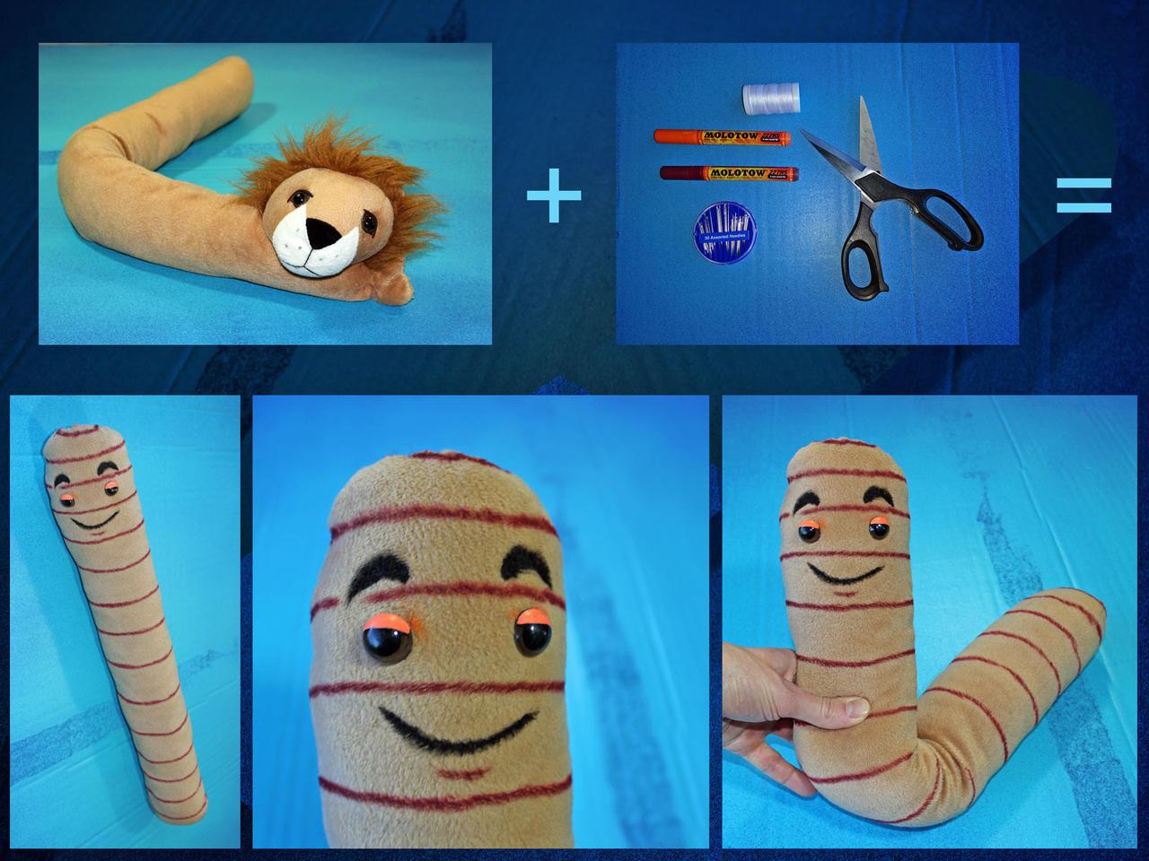 Stuffed Worm by Jasper-M