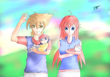 Happy Family (Issey Hyoudou x Rias Gremory) by AfiNeku