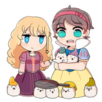 Rapunseilyssa And Snow White With Doggos