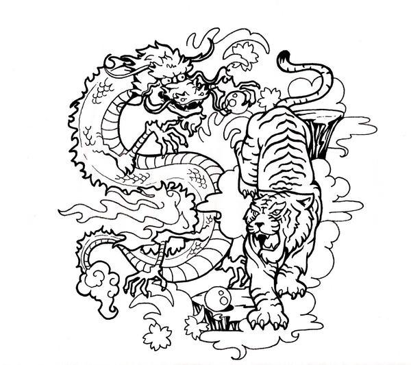 Ying Yang Dragon Tattoo