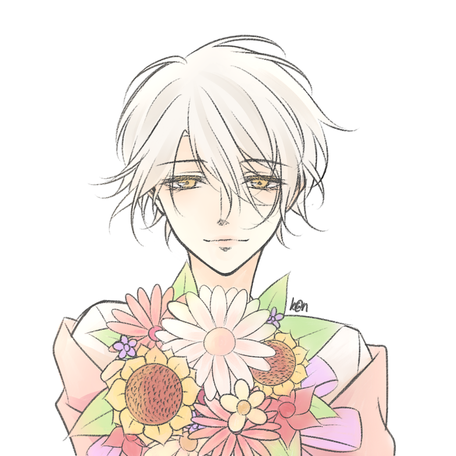 It is a graphic of Superb Flower Boy Drawing