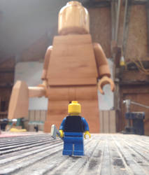 Giant wooden lego man lurking by Ragskin