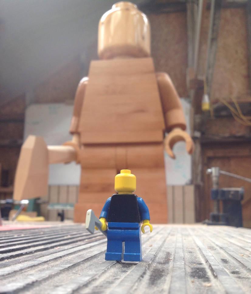 Giant Wooden Lego Man Lurking By Ragskin On Deviantart