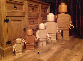 Wooden lego family by Ragskin