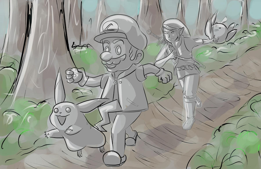 Super Pokemon Brothers WIP by AMu23M1