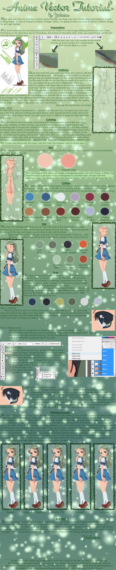 Anime Vector Tutorial by Yukintou
