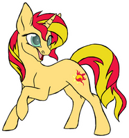 Sunset Shimmer- Stream Sample Sketch by Spirit--Productions