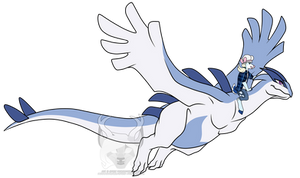 Spirit and her Lugia by Spirit--Productions