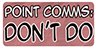 Point Commissions Don't Do Stamp by Spirit--Productions