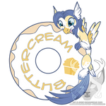 Buttercream Donut Badge by Spirit--Productions