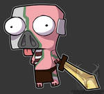 Zombie Pigman- Zim Style by Spirit--Productions
