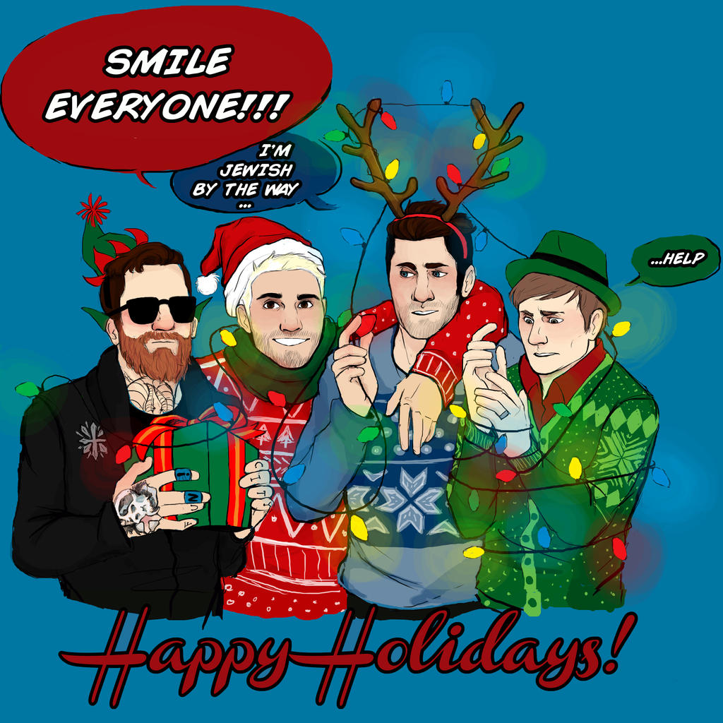 fob holiday card meglm fob holiday card meglm jpg 1024x1024 fall out boy holiday - Fall Out Boy Christmas