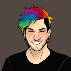 Actual Rainbow, Josh Dun by Meglm5291