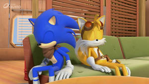 Sonic and Tails sleeping