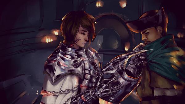 Dark Souls III Title Card by midnazora