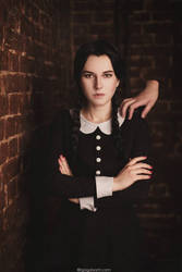 Wednesday Addams and Thing by NellieSchwarz