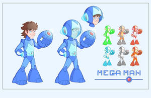 Mega Man Redesign by Phil-Crash-Murphy