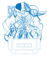 WIP Guardians of The Galaxy rough sketch by Phil-Crash-Murphy