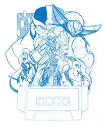 WIP Guardians of The Galaxy rough sketch