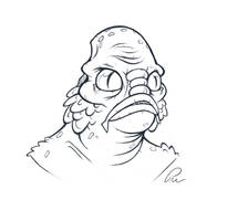 Creature from the Black Lagoon sketch by Phil-Crash-Murphy