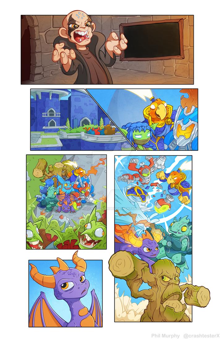 Skylanders pg 1 by Phil-Crash-Murphy