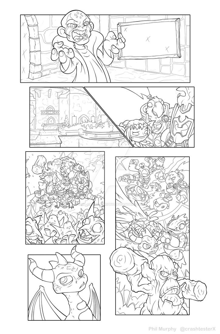 Skylanders sequential pg 1 Ink by Phil-Crash-Murphy