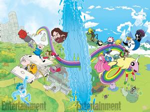 Adventure Time Regular Show Crossover Cover #1
