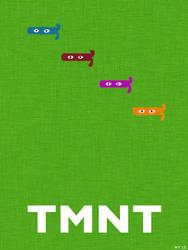 TMNT Masks (minimalist poster) by haydenyale