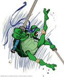 TMNT Leonardo sketch by bustrucket (coloured)