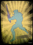 Skeletor Fight Pose Poster