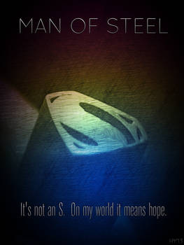 It's Not An 'S' (Man of Steel)