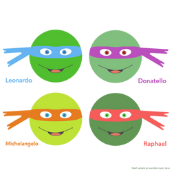 TMNT Heads by haydenyale