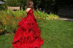 Mina's red dress