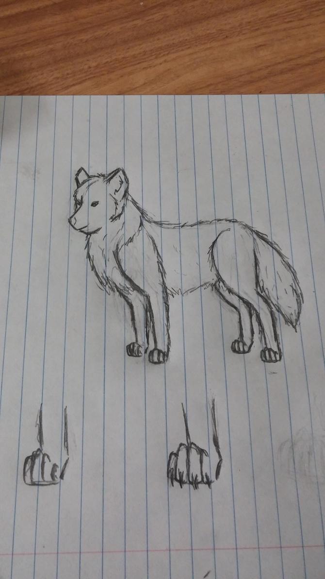 Wolf Practice by KellyTheAlien