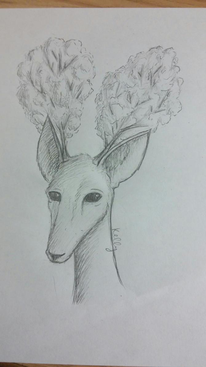 Tree Antlers (Original) by KellyTheAlien