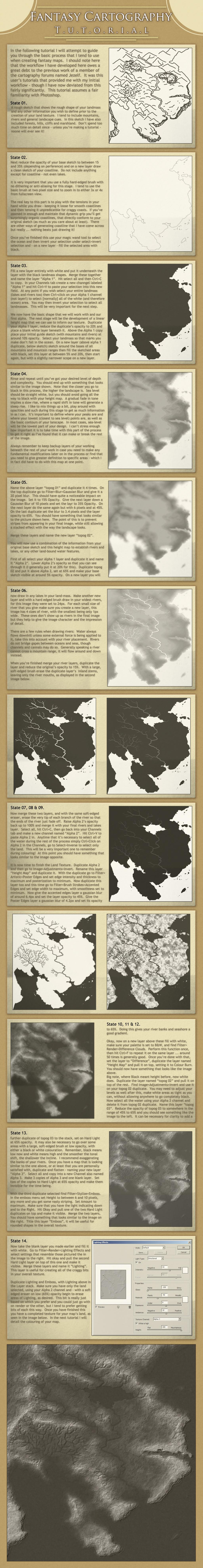 Fantasy Cartography Tutorial: Landscape Texture