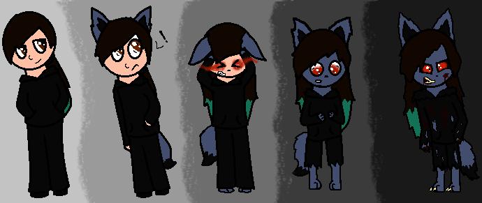 Werewolf Transformation by DuskTheDarkwolf