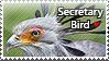 Secretary Bird - stamp by l---Skipper---l