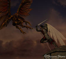 Angel War by StonedDrgn