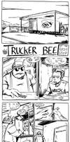 Trucker Bee at the Rest Stop by claudetc