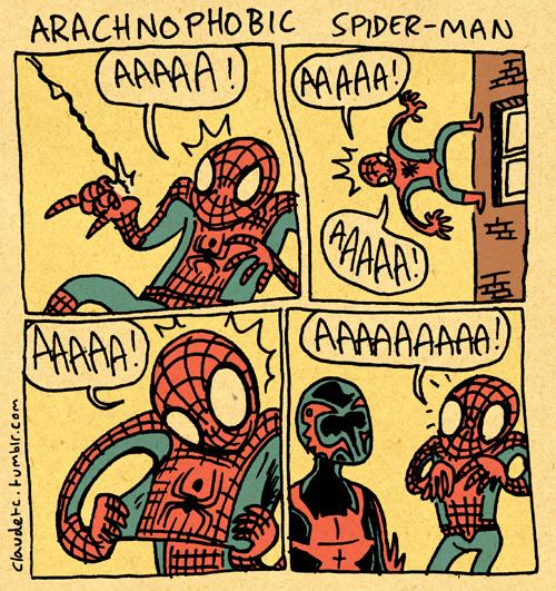 Arachnophobic Spider-Man by claudetc