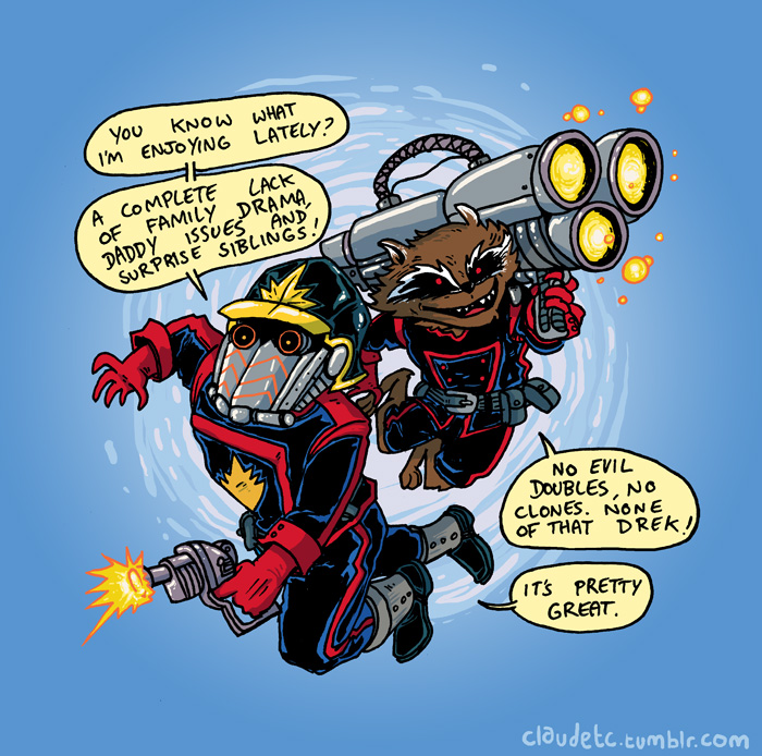 Star Lord and Rocket by claudetc