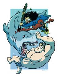Journey into Stupid - Shark Fight