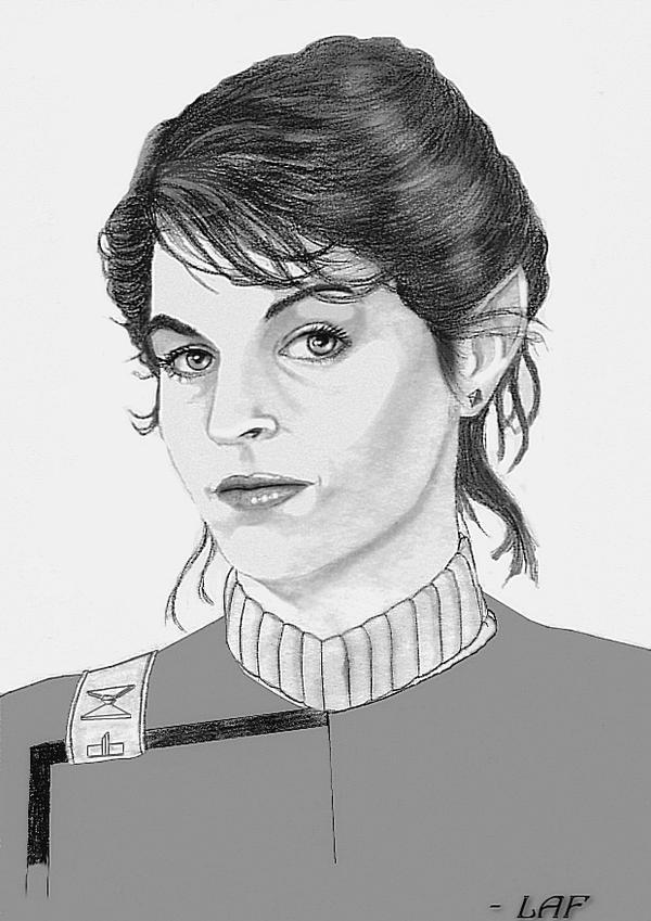 Lieutenant Saavik - Portrait by SpaceCowboy5000