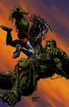 Swamp Thing vs Predator colors