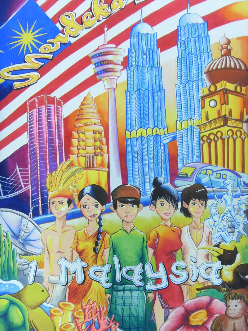 JoouChiyanmon 10 7 Satu Malaysia Poster By Lokkie JL