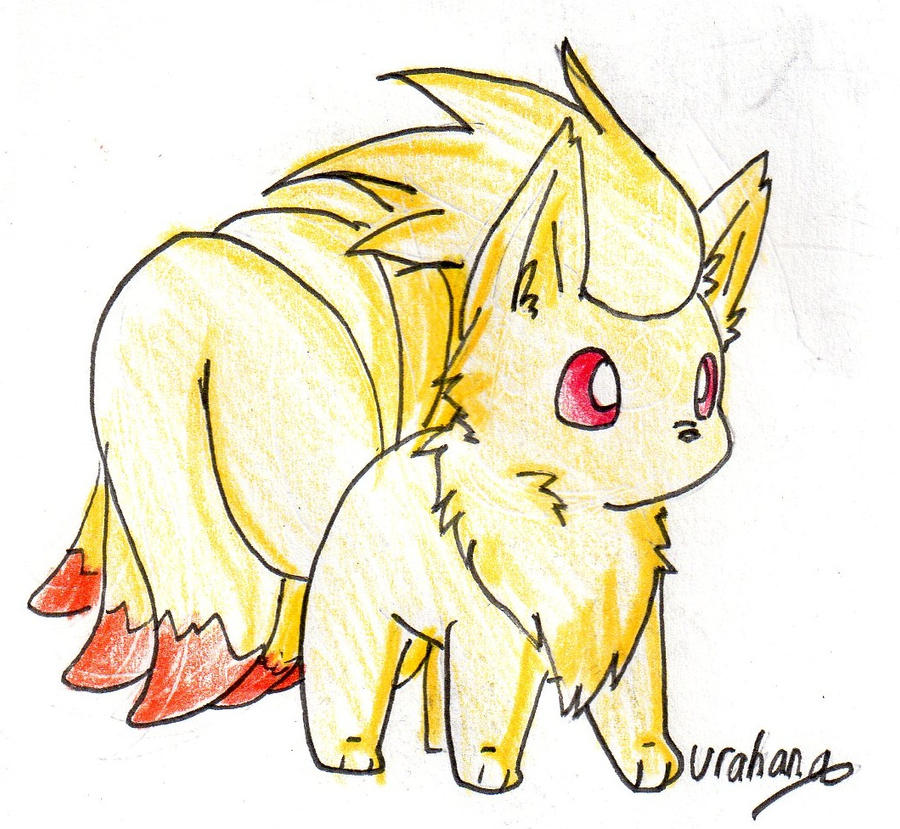 how to draw cute vulpix