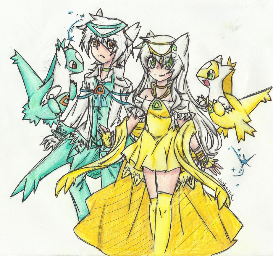 Shiny Latias and Latios Gijinka by Urahana on DeviantArt