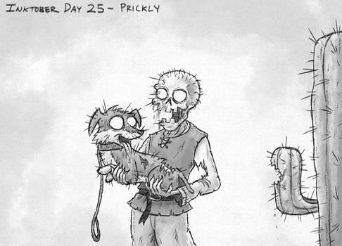Inktober Day 25 - Prickly