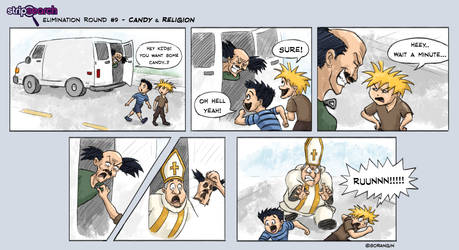 Strip Search Comic - Candy and Religion